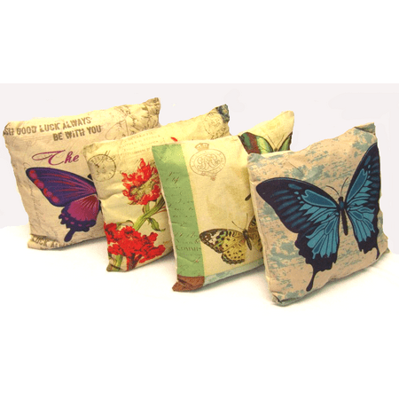 Butterfly Decorative Throw Pillow Cushion Sofa / Bed - 16