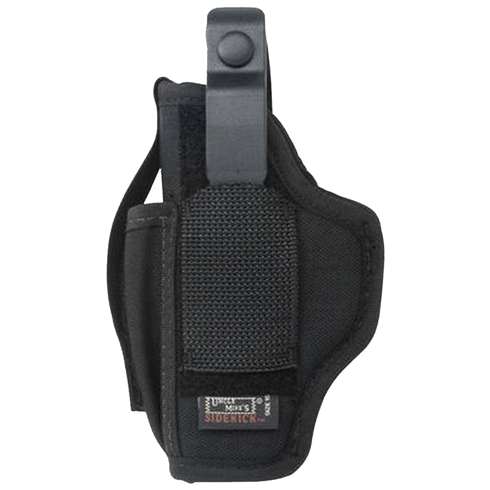 "UNCLE MIKES SIDEKICK HIP HOLSTER WITH BELT CLIP NYLON BLACK 2.25"" SMALL FRAME REVOLVER"