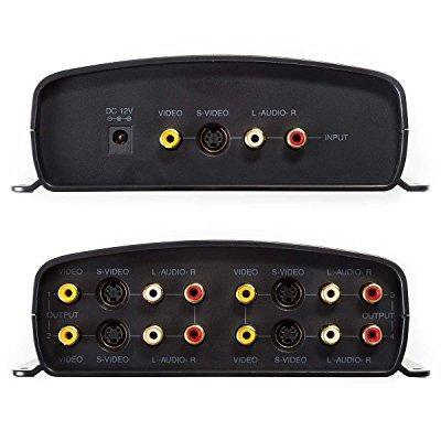 Radioshack 1500320 1 Input 4 Output A V Component Video Sound S Video Distribution Amplifier Splitter
