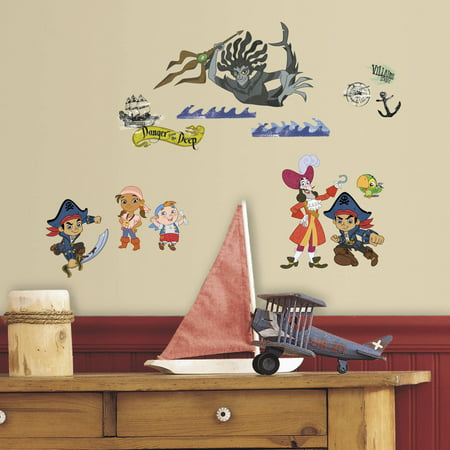 Captain Jake & The Never Land Pirates Peel and Stick Wall Decals