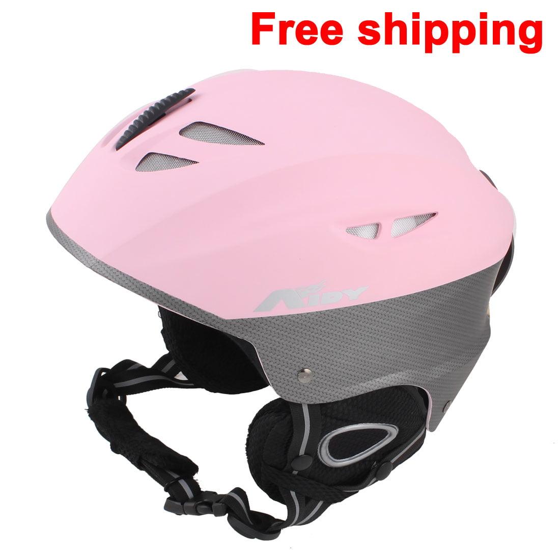 Women Men Skateboard Skiing Racing Bicycle Bike Sports Helmet Size L Matte Pink by