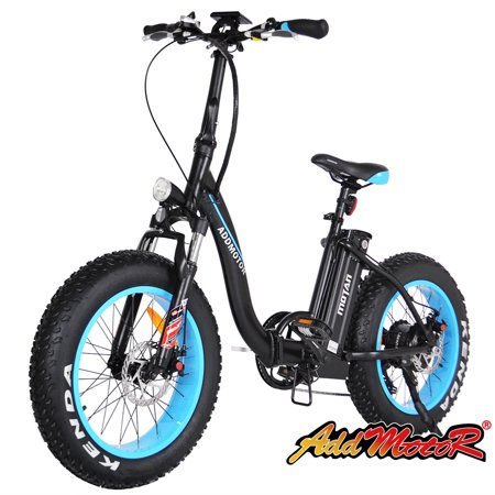 Addmotor Electric Bicycle 500W 48V Folding Fat Tire Electric Bike Low-frame Comfortable M-140 Snow E-bike For