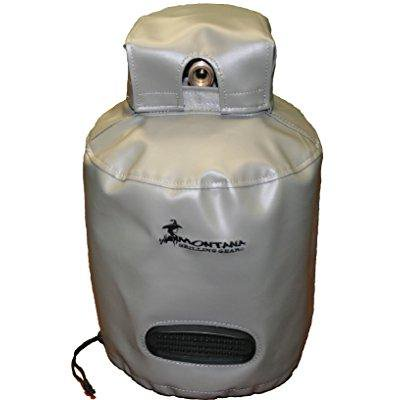 Montana Grilling Gear Synthetic Leather Vinyl Ventilated Propane Tank Cover for 30lb Tank – Durable, Weatherproof, Water Resistant Material - 12.5 X 18 - (Propane Grill Tank Cover)