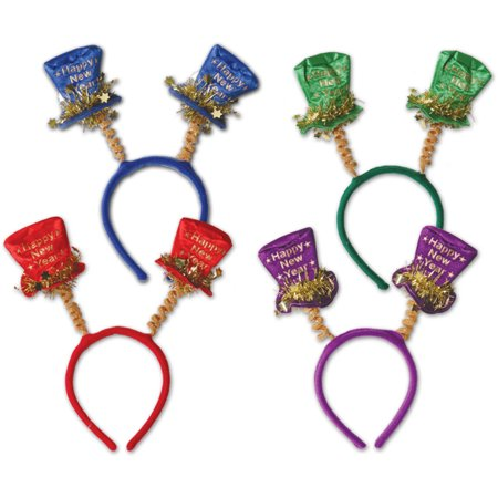 Ddi Happy New Year Top Hat Boppers (pack Of 60)