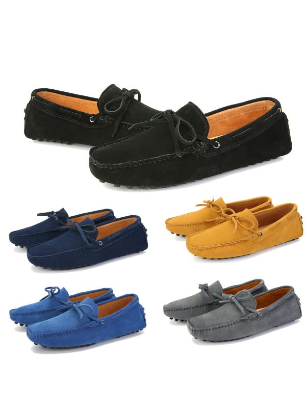 Meigar Men's Loafers Driving Moccasins Soft Suede Leather Penny Flats Casual Shoes