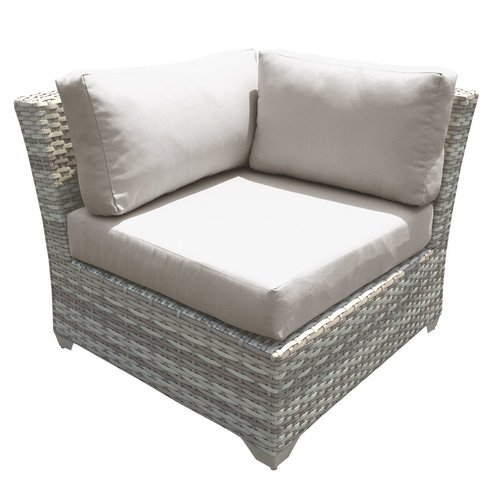 Sol 72 Outdoor Falmouth Corner Patio Chair with Cushions