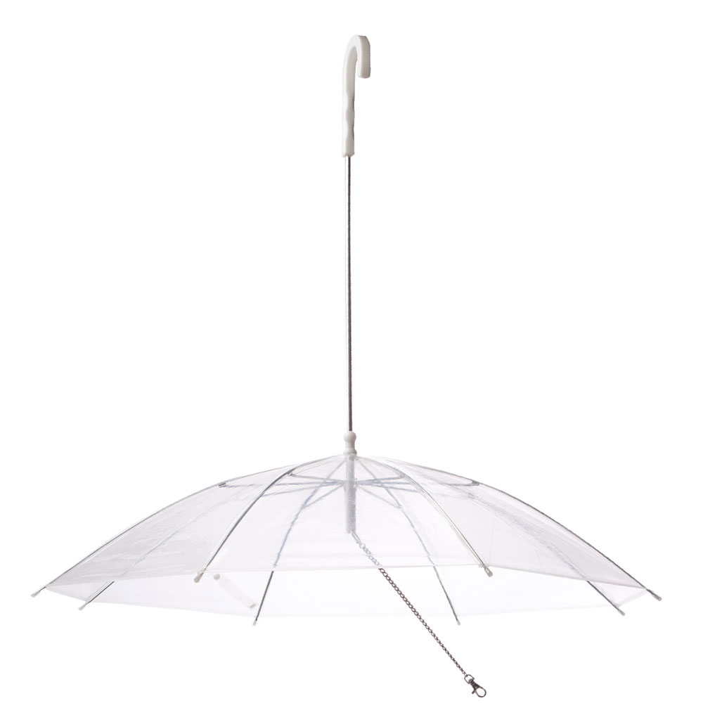 Pet Umbrella Built In Leash Dog Puppy Dry Walking Sleet Snow Rain