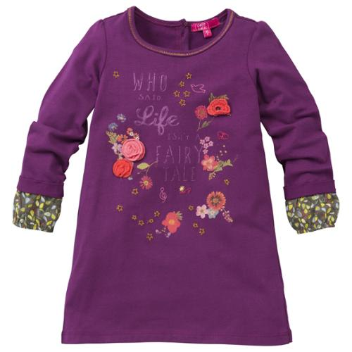 CakeWalk Baby Girls Purple Kiris Long Sleeve Dress 12M