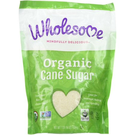Wholesome Organic Cane Sugar 16 oz (Pack of 3)