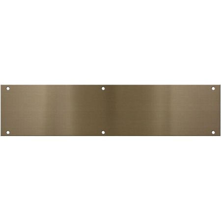 Door Push Plate (National Hardware V1981 Series N336-628 Push Plate, 3-1/2 in L, 15 in W, Aluminum, Antique Brass)