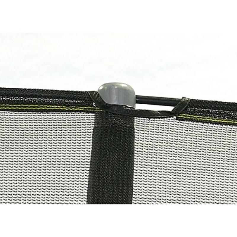 Net for 15ft Trampoline Enclosure using 5 Poles and Sleev...