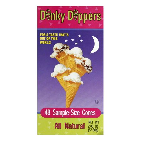 Dinky Dippers Sample-Size Cones, 48 ea (Pack of 12)