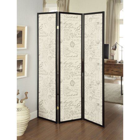 Outstanding Coaster Company French Script 3 Panel Room Divider Folding Screen Download Free Architecture Designs Scobabritishbridgeorg