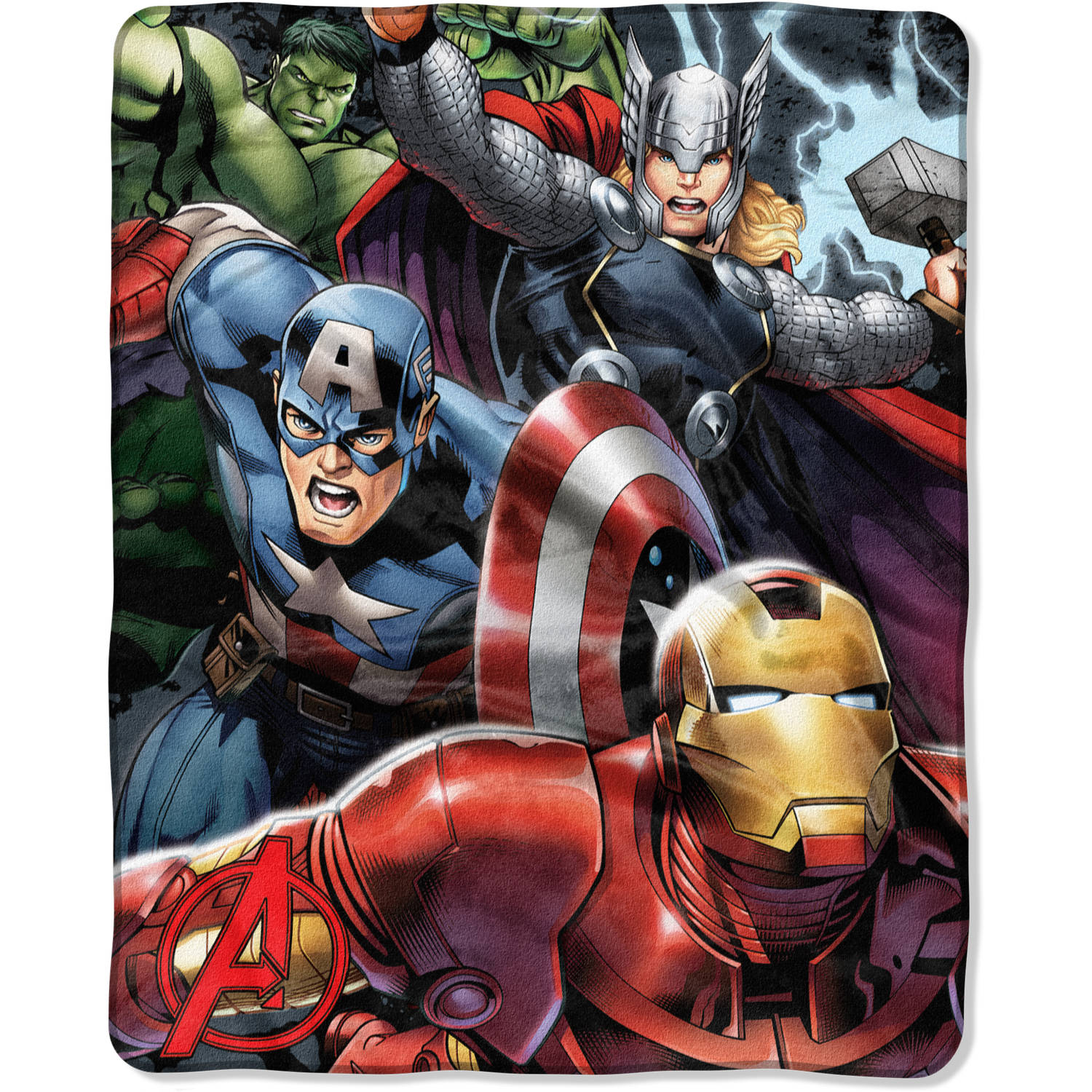 Marvel The Avengers  Teammates  40  x 50  Silk Touch Throw