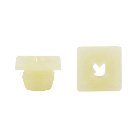 100pc Attache Place jaune plastique Retenue moulage Clip 11x11 mm - image 2 de 2