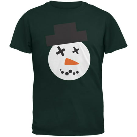 Snowman Face Ugly Christmas Sweater Forest Adult T-Shirt