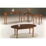 3-PC Queen Anne Coffee / End Table Set - Oak