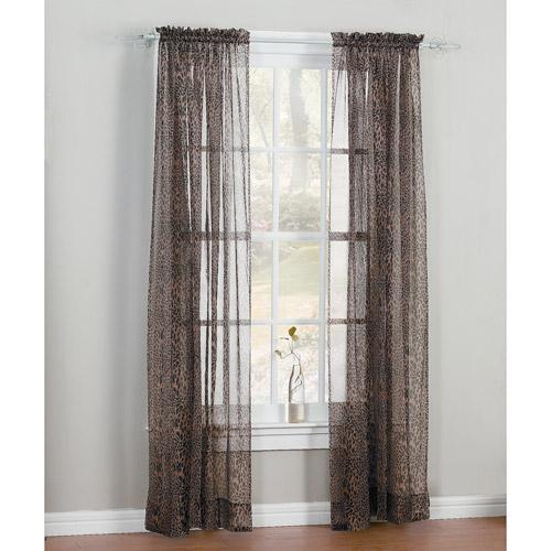 Leopard Print Window Curtain Panel