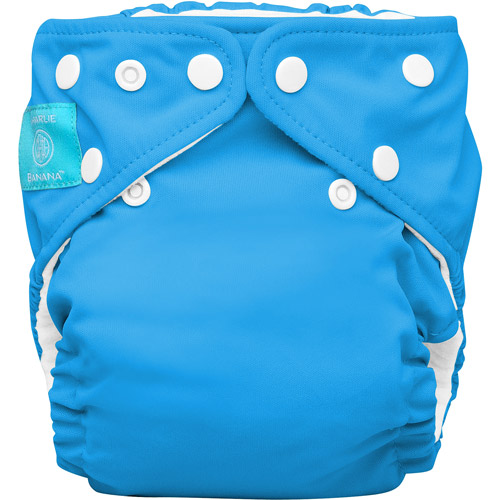 Charlie Banana 2-in-1 Reusable Diapering System, 1 Diaper and 2 Inserts, (One Size), Turquoise