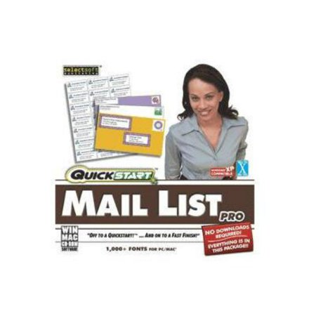 SelectSoft QuickStart: Mail List Pro (Windows) (Digital (Certified Mail Software)