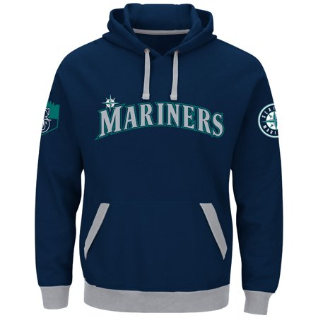 "Seattle Mariners Majestic MLB ""Third Wind"" Mens Hooded Sweatshirt by"