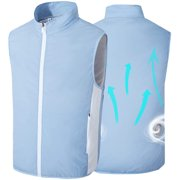 Unisex Air-Conditioning Vest with Dual-Fan 360° High-Efficiency Circulation Cooling Jacket, Washable Light Cooling Clothes for Outdoor Sports and Leisure Activities in Summer