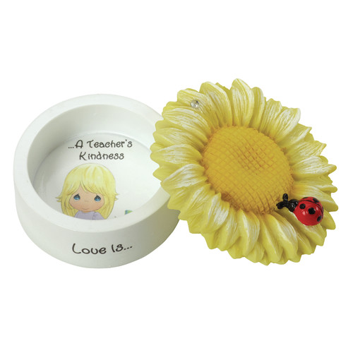 Precious Moments Decorative Love Is a Teacher s Kindness Sunflower Trinket Box by Precious Moments