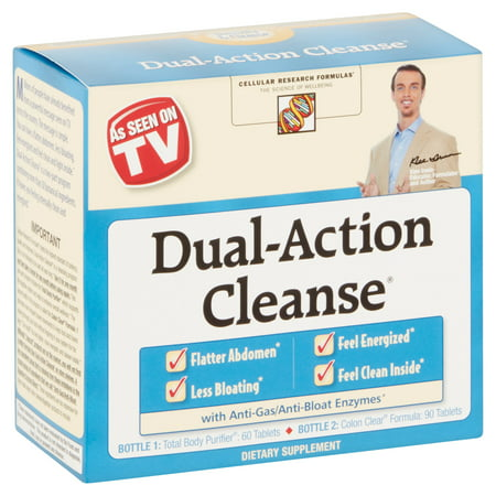 Cellular Research Formulas Dual Action Cleanse Tablets, 150 (Candida Cleanse 60 Tablets)