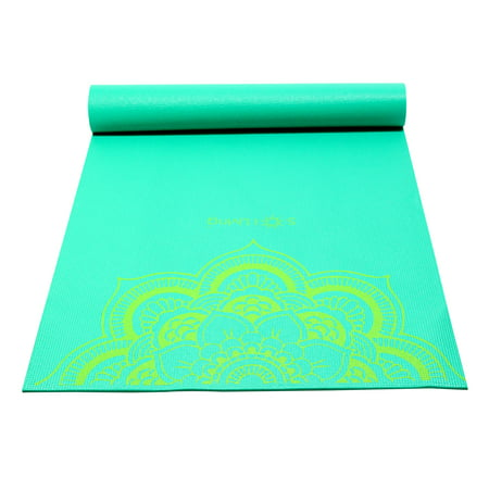 Sol Living Extra Wide and Thick Yoga Mat Best Exercise Mat Thick Yoga Knee Mat for Comfort Fitness Meditation Pilates Workout Mats Ideal for Home Gym 24 x 72 Inches (Green