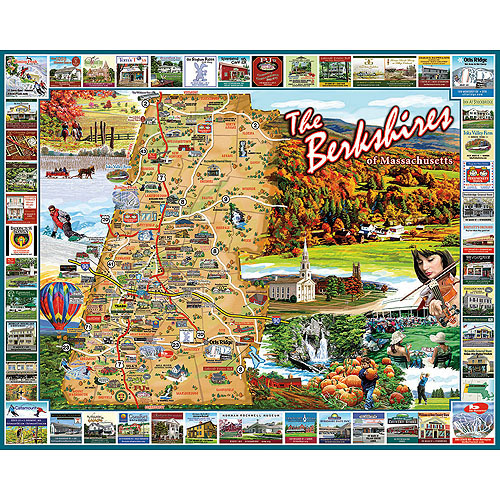 White Mountain Puzzles Berkshires, MA Puzzle, 1000 Pieces