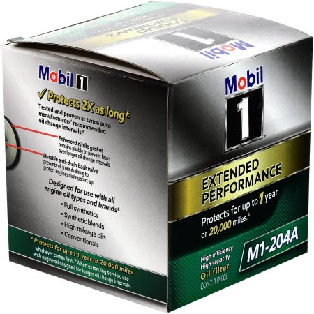 Mobil 1 Oil Filter >> 4 Pack Mobil 1 M1 204a Extended Performance Oil Filter Walmart Com