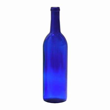 750 ml Cobalt Blue Glass Claret/Bordeaux Bottles, 12 per case (Cobalt Blue Glass Mister)