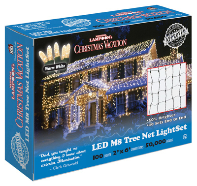 Holiday Bright Lights LEDM8TK-100WW-CG Christmas Net Light Set, Commercial Grade, Warm White LED, 100-Ct. by HOLIDAY BRIGHT LIGHTS