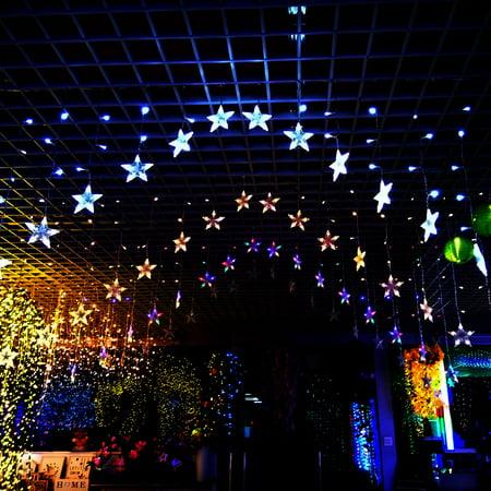 Star Christmas Wedding New Year Party Decoration Xmas Curtain Fairy String Li