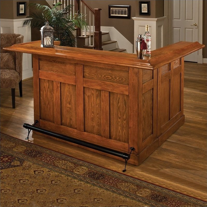 Hillsdale Furniture Classic Large Bar with Side Bar, Multiple Colors