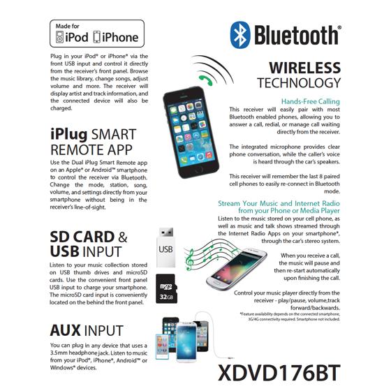 Dual Electronics XDVD176BT 7-inch LED Backlit LCD Multimedia