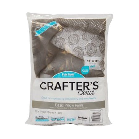 Fairfield Crafters Choice Pillow Insert, 12u0022 x 16u0022, 1 Each