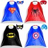 Comic Cartoon Hero Apparel Costumes Dressed Up Boys Custumes and Mask Costumes Hollowen Gift 4 pcs Set For Boys