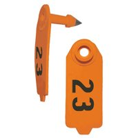 Duflex Sheep & Goat Tags, 25 Numbered - XGW4 - Color: White, Number: 76-100
