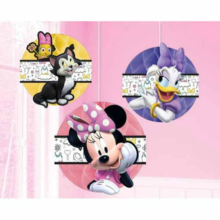 Minnie Mouse 'Happy Helpers' Honeycomb Decorations (3pc)