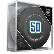 Vancouver Canucks Unsigned InGlasCo 2019 Model 50th Anniversary Season Official Game Puck