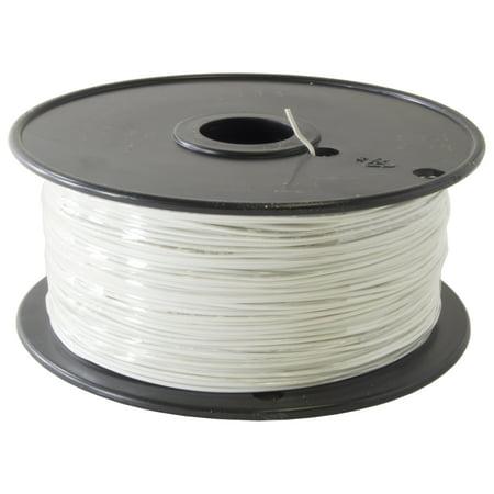 1000 Foot, 22 Gauge Stranded Hook Up Wire - White