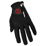zero friction men's storm all weather golf gloves, one size, black, pair