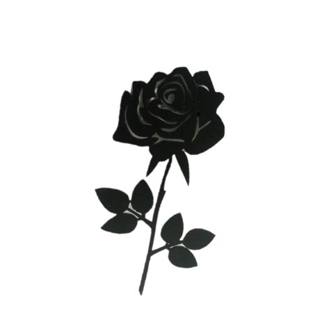 Large Metal Rose Flower Wrought Iron Wall Art Home Decor Decoration Patio Black -