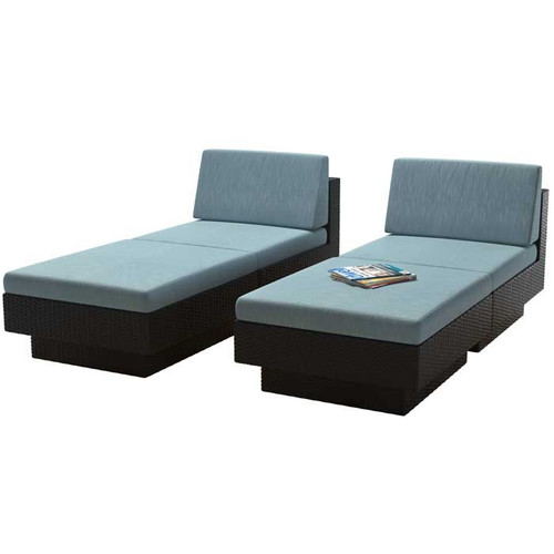 Brayden Studio Jetton Chaise Lounge Set with Cushions