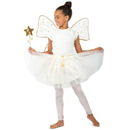Girls Goldie The Glitter Fairy Costume