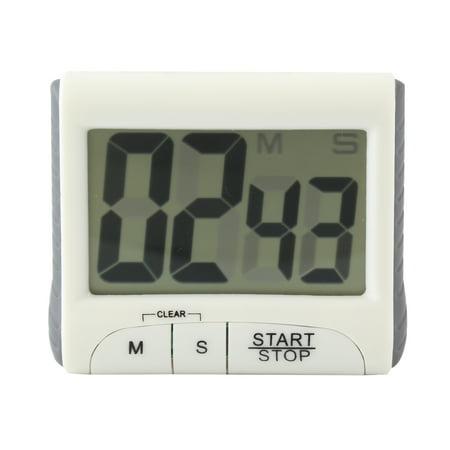 Digital Large LCD display Timer, Electronic Countdown Alarm Kitchen Timer, White