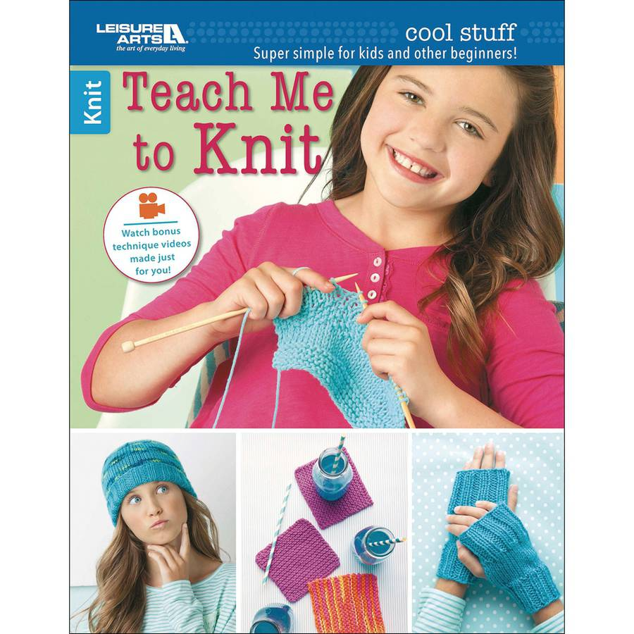 Leisure Arts Cool Stuff Teach Me to Knit