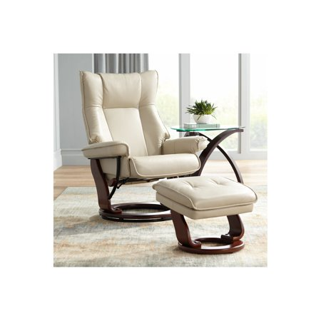 Marvelous Benchmaster Morgan Stucco Faux Leather Ottoman And Swiveling Recliner Short Links Chair Design For Home Short Linksinfo