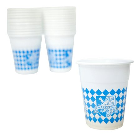 Oktoberfest 16 oz. Plastic Cups - Oktoberfest Sayings